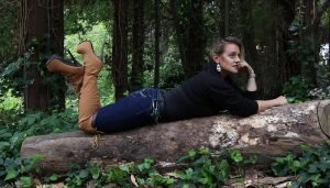 Jen Wears Timberland Brown Style Boots in The Forest