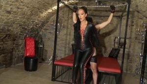 Fuck My Catsuit, Bound Teased and Denied Leather Slave and Control His Orgasm part 2