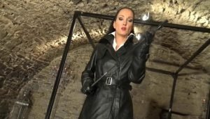 Instructions From Liza, Double Breasted Leather Coat JOI