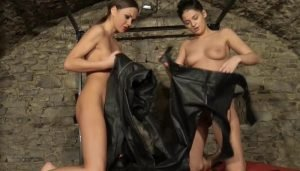 Two Horny Girls Dressing For Leather Sex part 1