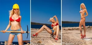 Hard Working Girl in Red Bikini – Photoset