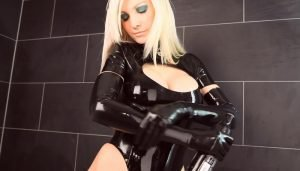 Suzan – Bizarre Black Beauty with Long Blond Hair part 1