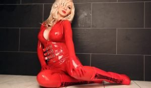 Dreamful Red Wet Catsuit part 1