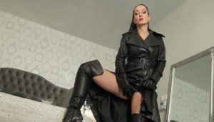 Vintage Leather Worship and JOI