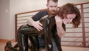 Cam Damage – Ass Attack in Black Latex
