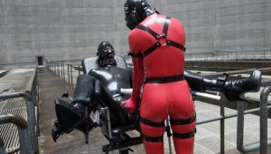 Vespa and Cam Damage – Field Trip in Black & Red Latex