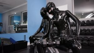Vespa and Cam Damage – Swolmates in Black Latex