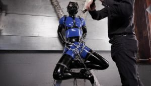 Bondage Blues in Blue Latex