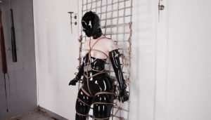 Electro Box in Black Latex