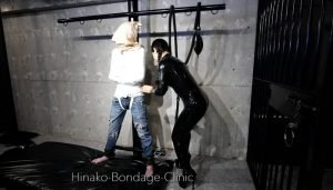 Stoic Man in PVC-VINYL Straitjacket Gets Vibed But Doesn't Really Have Visable Reaction to it