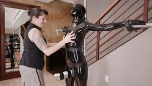 The Inspection in Black Latex Shorts Clip