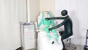 Intense Latexnurse Hitachi Treatment for Rubbernurse Lara