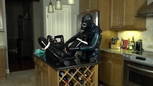 Rubber_Jeff Uses His Toy Lara on the Kitchen Island Part 1