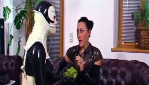 Strict Bondage and Famous Facesitting Rubberdoll May Serve Her Mistress