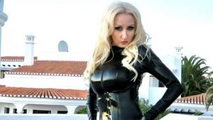 Shiny Black Latex Catsuit Part 2