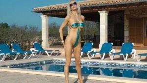 Silver Blue g-string Micro Bikini Part 1