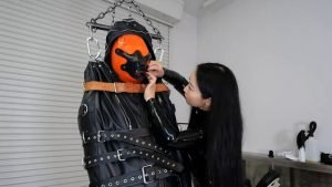 Rest Sack Slave with blindfold and Suspension