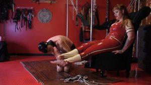 Playing with my slave a latex baseball uniform